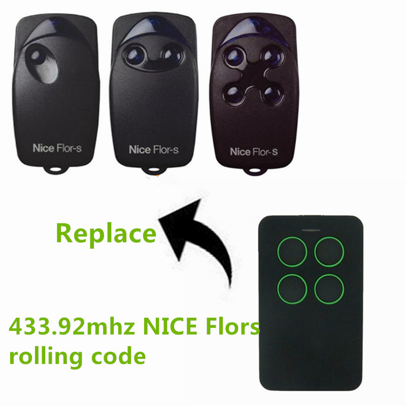 universal remote control rolling code  Nice Flors gate garage door open FFLO1R-S, FLO2R-S, FLO4R-S, ON1, ON2, ON4, free shipping nice flo2r s replacement garage door opener remote control