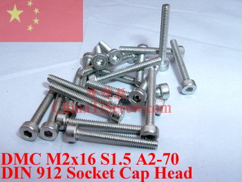 Stainless Steel screws M2x16 DIN 912 A2-70 Polished ROHS 100 pcs titanium screws m4x20 din 912 hex 3 0 driver polished