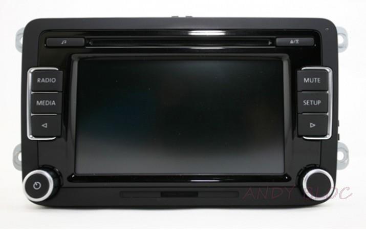 Original 6-CD Player Car Radio rcd510 case for volkswagen rcd 510 For Golf 5 6 Jetta MK5 MK6 Passat B6 CC Tiguan support RGB 12v parking rgb reversing video camera for vw tiguan a4 a6 q5 rns510 rcd510 5nd 827 566 c 5n0 827 566c 5nd827566c