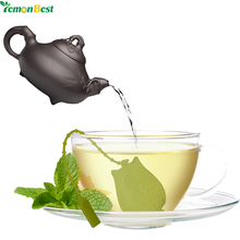 1Pcs Owl Tea Bags Strainers Silicone Teaspoon Filter Infuser Silica Gel Filtration Green Orange