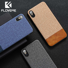 FLOVEME Case For iPhone XR Soft Silicone Cover XS MAX X 7 8 6 6s Plus TPU Edge Ultra Thin PU Cases