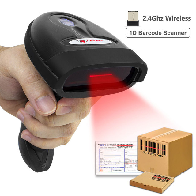 USB Wireless Barcode Scanner 30m 2.4G Laser Bar Code Reader with Receiver(2.4GHz Wireless &USB2.0 Wired) for POS System RD-1698W 2