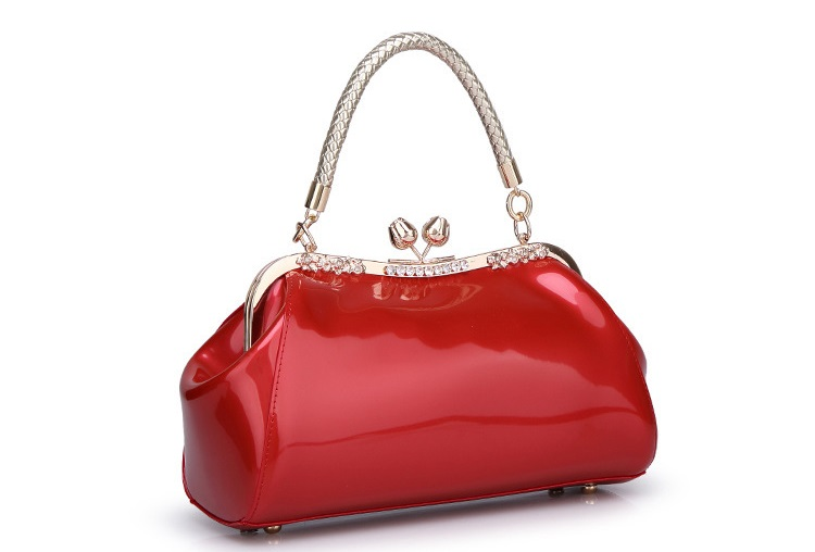 Luxury handbags women bags designer patent leather shoulder bag ladies office work handbag red wedding tote boston clutch  C856Luxury handbags women bags designer patent leather shoulder bag ladies office work handbag red wedding tote boston clutch  C856