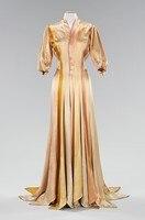 1930 s Шелковое Платье Конце Викторианской Эпохи Стиля Вдохновения Халате