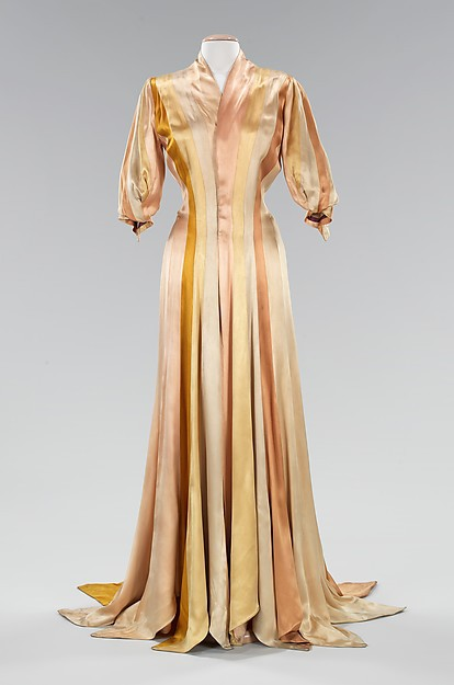 1930s Silk Dress Late Victorian Era Style Inspiration Dressing Gown ...