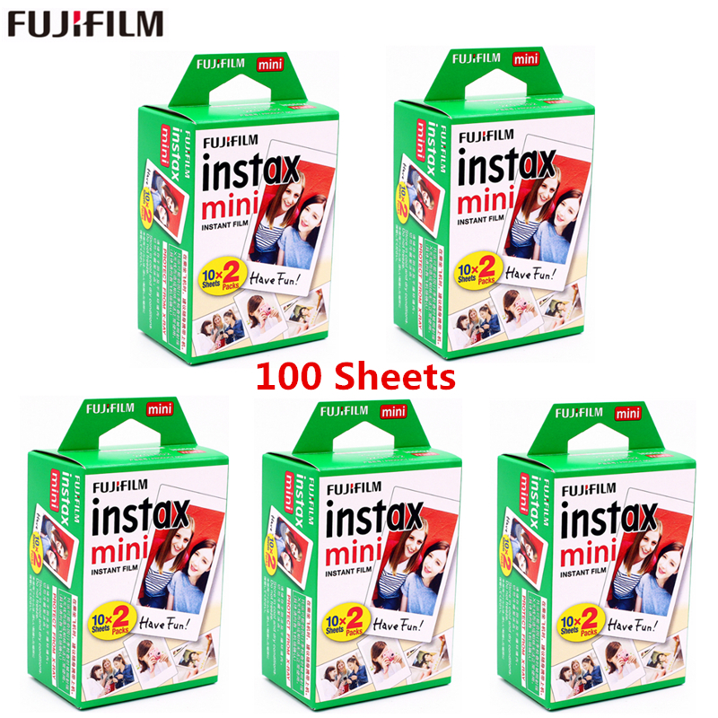 Original fujifilm white Edge fuji film 10-100 sheets 3 Inch instax mini film photo paper for Instant Camera mini 8 7s 25 50s 90