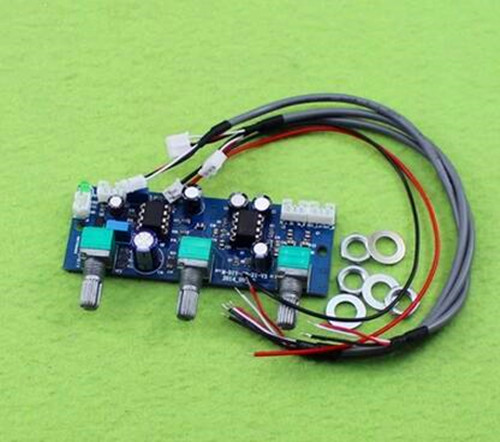 Free Shipping!!! 2.1 channel subwoofer preamp board / low pass filter board / single power amplifier / Electronic Component