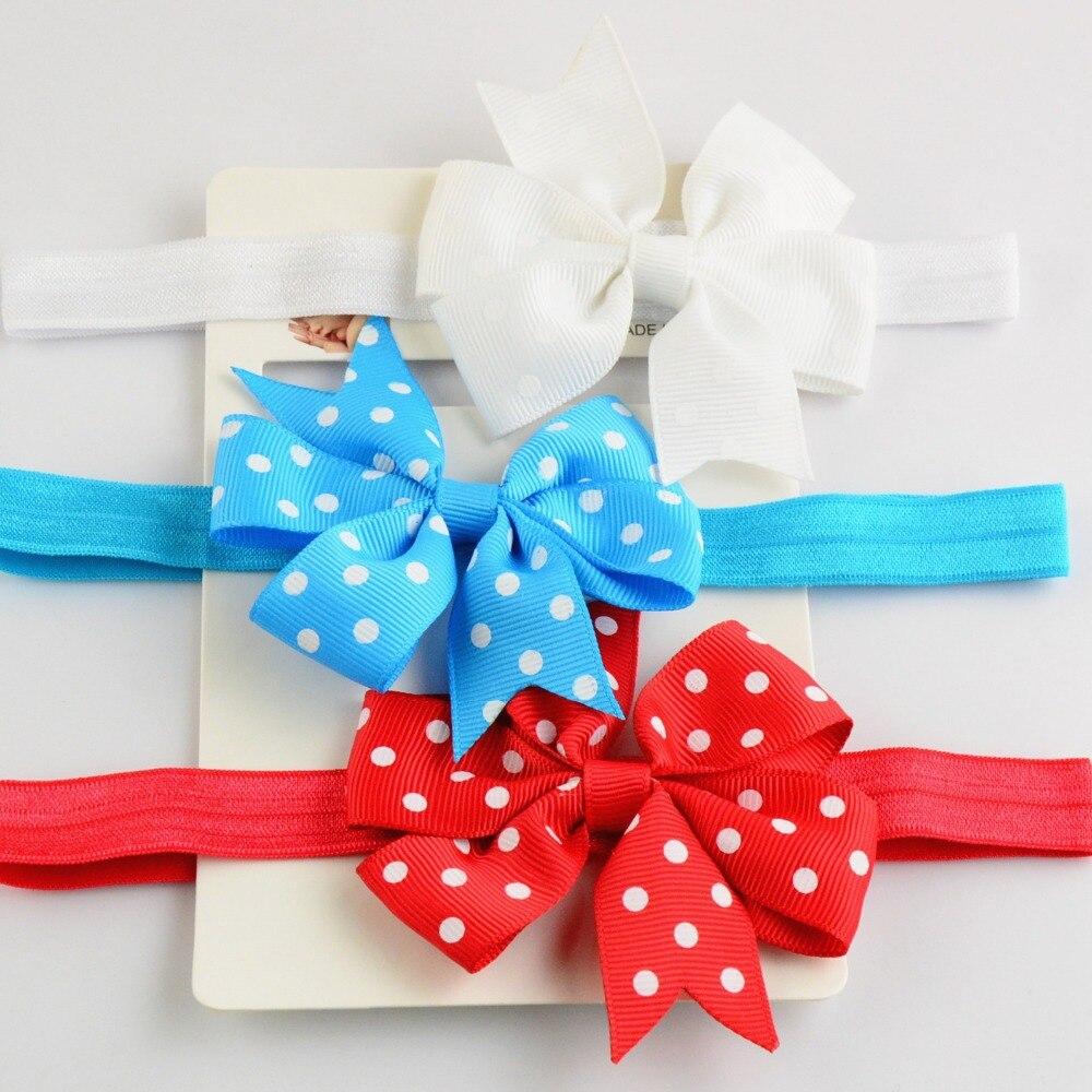 Бесплатная доставка, 10 шт./лот горошек с бантом ленты повязка на голову для девочек-младенцев, Малыши, Дети, Подростки и женщины пасха повязки