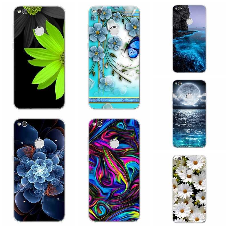 Soft Case Para Huawei Nova 3 P9 P10 lite/P8 Lite Y5 II Honra 7A 8A 8X 8C 9 10 companheiro 20 Padrão TPU Flower pattern Capa AC009