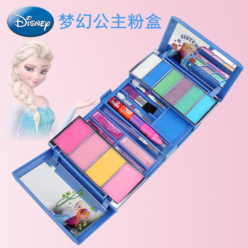 Disney Frozen Children's Cosmetics Princess Makeup Box Set Safe Non-toxic Girl House Makeup Toys  Baby Christmas Present