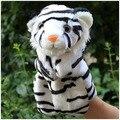 Historia juego 1 unid 26 cm de dibujos animados zoológico tigre siberiano marionetas de mano de felpa pacificar rellenos educativos regalo infantil del bebé