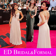 Ariana Grande Pink Dress Celebrity Evening Prom Formal Pageant Gown NYC Premiere of Harry Potter(China (Mainland))