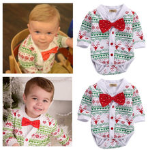 christmas xma new autumn fall toddler infant Newborn Baby Girl Boy Reindeer Snowflake Coat Romper Jumpsuit 2pcs Outfits Set