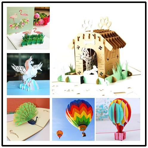 Dalmatian House Birthday Pop Up Card