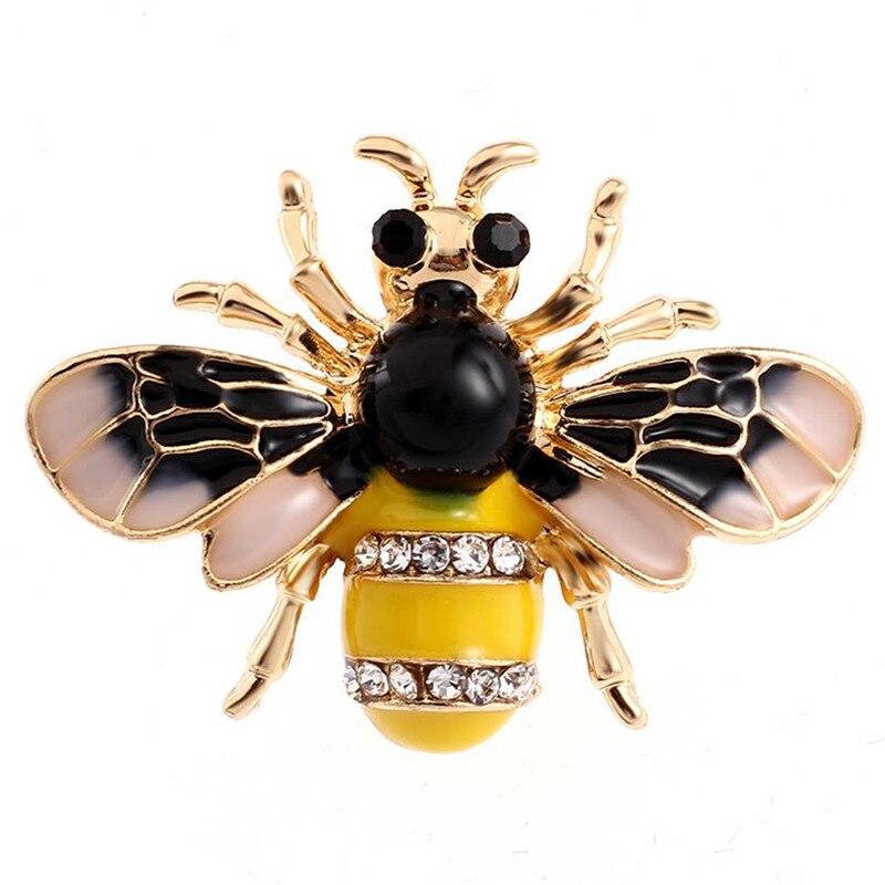 Пчела, жук, краб, муравьи, улитка, броши с птицами, Скорпион, стразы, Винтажные Украшения в виде животных, брошь - Окраска металла: 7