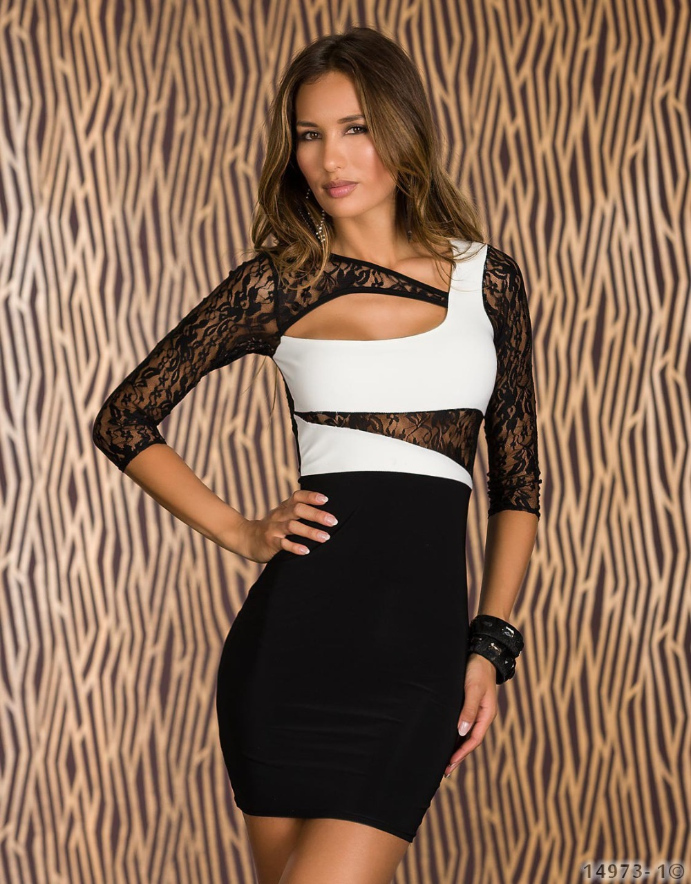 Red White Black Color Half Sleeve Women Spring Lace ...