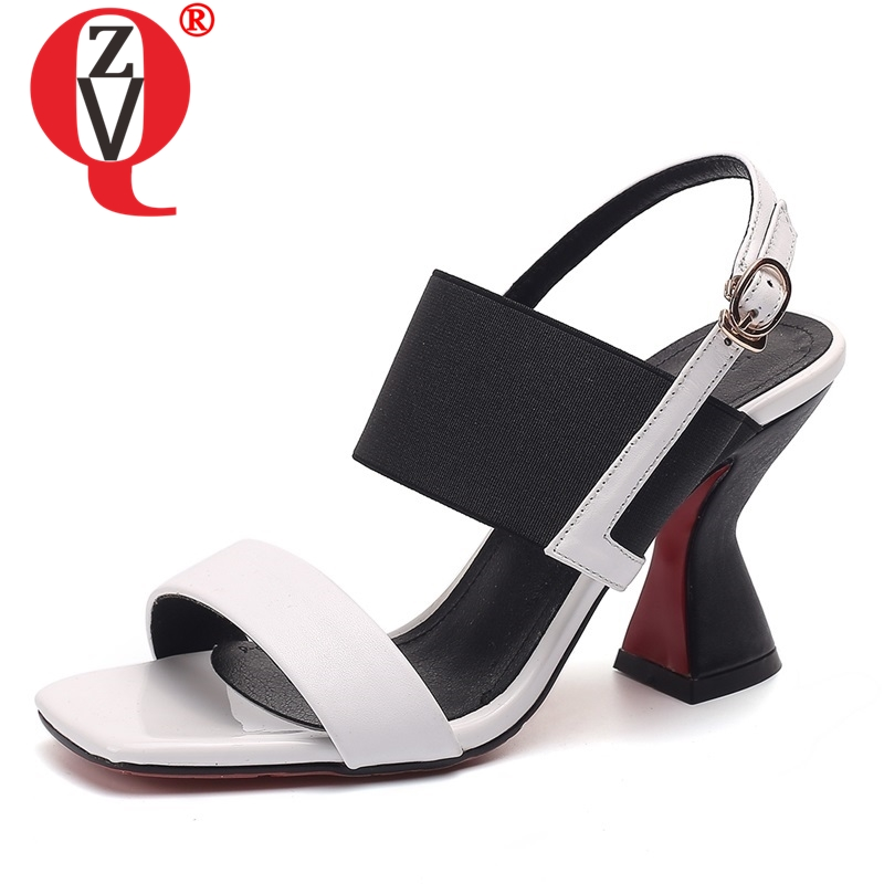 ZVQ shoes woman 2019 spring new fashion mixed colors open toe genuine leather woman sandals outdoor high strange style shoesZVQ shoes woman 2019 spring new fashion mixed colors open toe genuine leather woman sandals outdoor high strange style shoes