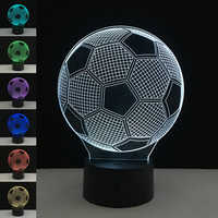 Coloré 3D Football lumière noël mariage décoration Football Sport ventilateur cadeaux Table bureau Bar chevet bureau décoratif