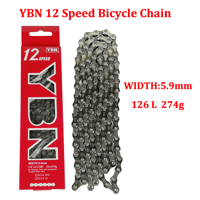 YBN S12 <font><b>Chain</b></font> Bicycle <font><b>Chain</b></font> <font><b>12</b></font> Speed MTB Road Bike <font><b>Chain</b></font> For Shimano Sram Campagnolo Systen <font><b>12</b></font> Speed Bicycle <font><b>Chains</b></font> image