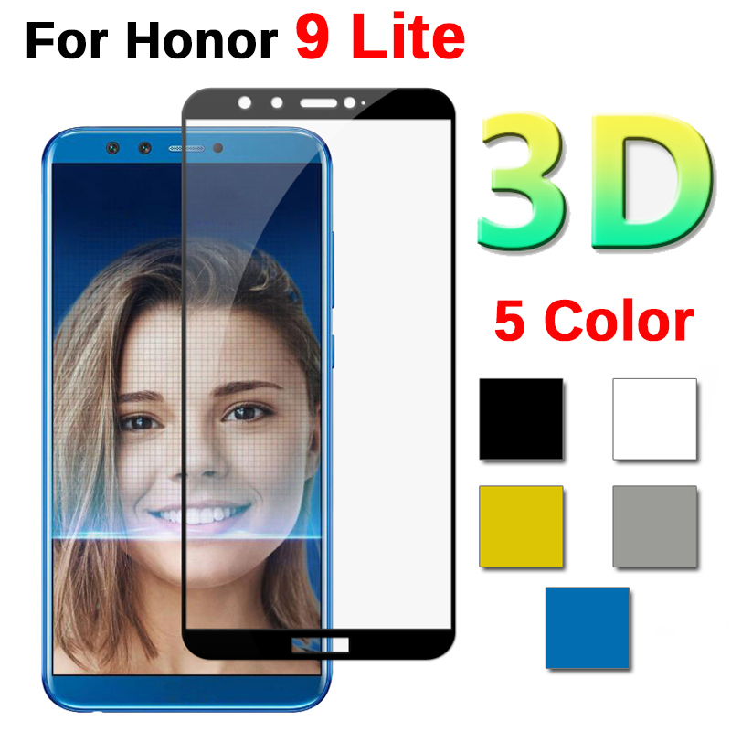 3D Glass For Huawei Honor 9 Lite Screen Protector Protective Glass For Huawei Honor 9 Honor9 Lite Light 9lite Full Cover Glass