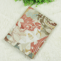 1 Meter European Style Retro Big Floral Printed Canvas Fabric 100 Cotton Coarse Cloth For Sofa