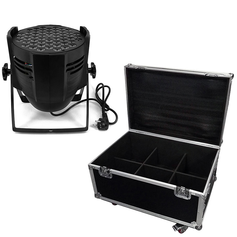 6picese LED RGB 54x9w Light LED Dj Disco Bar Stage Effect Party Lamp 12R/14G/14B/14W Stage TV Light With Flight Case