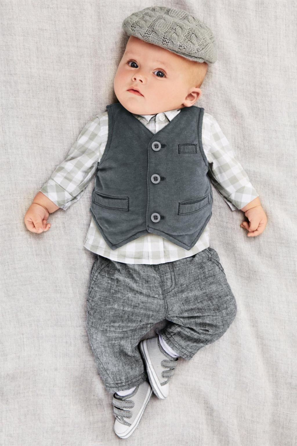 2015 Cute baby boy clothes 3pcs newborn boy outfits infant clothing set  spring autumn shirt with matching pants jeans Polo sets e8b9261bee58