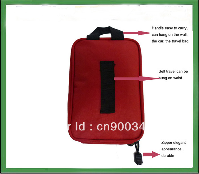 mini travel first aid kit bag/portable car first aid kit/survival kit(CE,FDA,ISO13485 certificate)