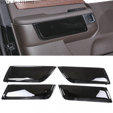 цена на For Land Rover Discovery 5 LR5 L462 2017 2018 ABS Gloss Interior Car Door Decoration Panel Cover Trim Replacement Parts 4pcs