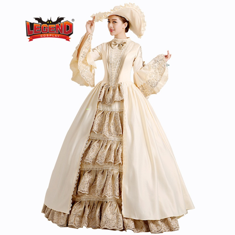 Medieval Gothic Retro Victorian Ball Gowns dress Theatre Clothing