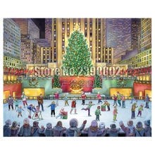 Diy 5D Diamond Painting Rockefeller Center Mosaic New York City 3D Embroidery Cross Stitch Home Decor Art Gifts