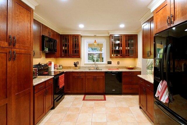 2017 holz küchenschränke billig preis massivholz küche möbel ...