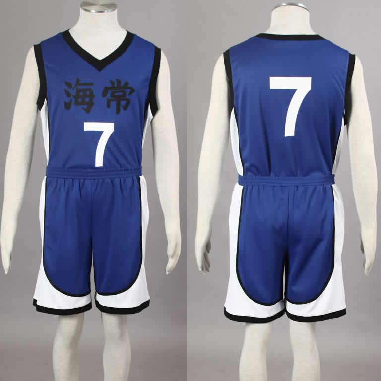 Kuroko no Basuke Basket KAIJO Blue school basketball suit mens uniforms boys sport clothes No.7 Kise Ryota cosplay costume