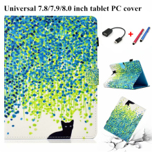 Tablet 8 inch Case Cover Universal New Cover Cartoon Case For Tablet 7.85 7.9 8.0 inch For Cute E-Books For Samsung For Huawei kefo universal cover for prestigio multipad grace 3118 pmt3118 3318 pmt3318 3g 8 inch tablet zipper nylon tablet covers case