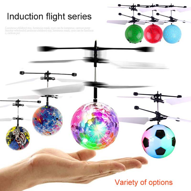 Children s Flying Luminous Toys Fancy New Mini Aircraft Levitated Light Up Smart Sensor Flying Ball