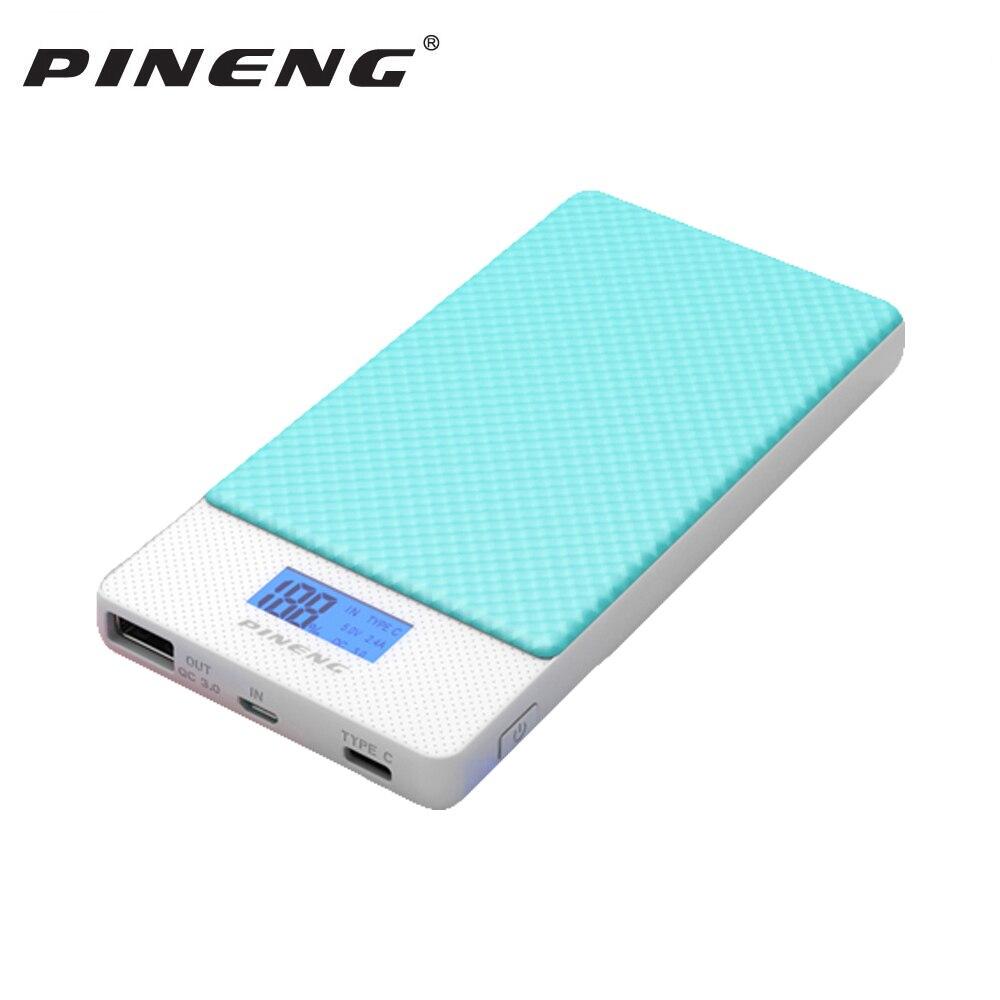 Pineng 10000 mAh rápida de dos vías Baterías portátiles PN 993 qc3.0 batería portátil li-polymer tipo-c puerto para iphonex Samsung iphone8