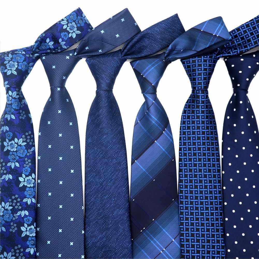XKB 8 センチメートルクラシック 100% のネクタイファッションネクタイブルース紺ネクタイ幾何男性ネクタイビジネスウェディングパーティー Gravatas