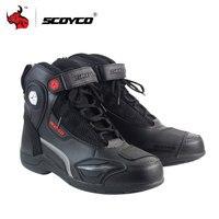 SCOYCO/мотоциклетные ботинки; кожаная обувь для бега по бездорожью; обувь для езды на мотоцикле; Мужские ботинки в байкерском стиле; Цвет черны...