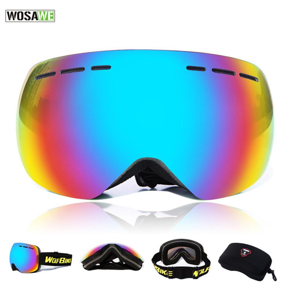 WOSAWE UV400 Óculos De Esqui Lente Dupla Anti-fog Máscara De Esqui Das  Mulheres Dos Homens Óculos de Esqui Neve Snowboard Motocross Óculos de  Proteção UV ... 098eff21d2