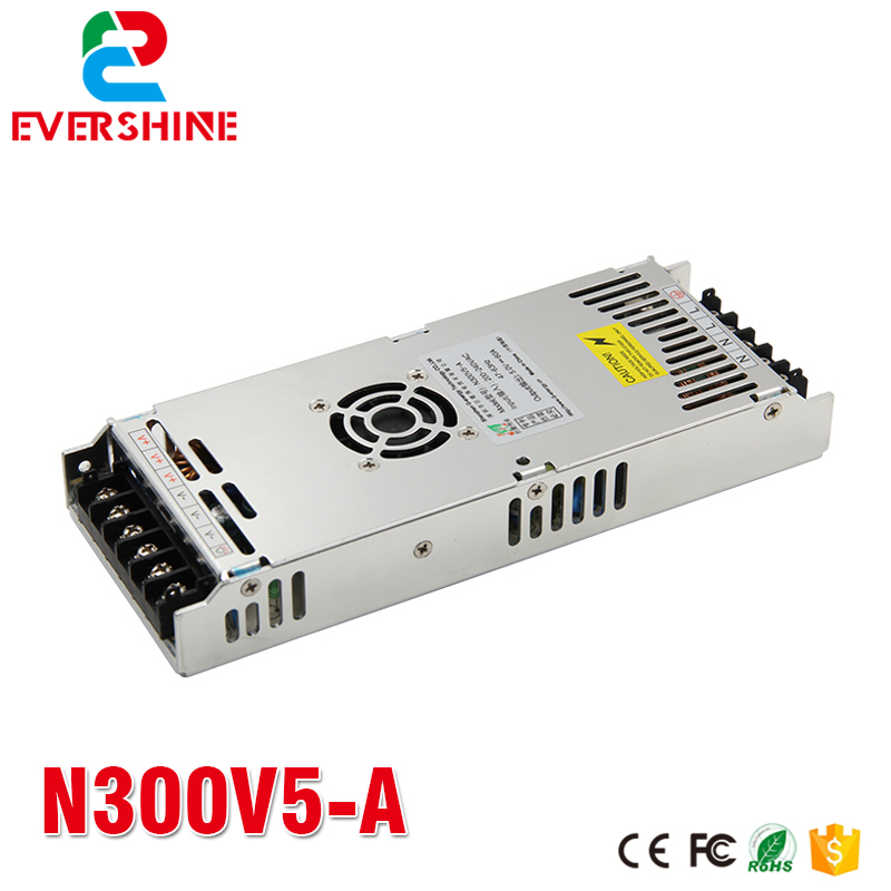 G energy N300V5 A 5V 60A 300W font b Slim b font LED display power supply