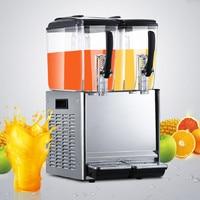 Jamielin 12L * 2 Comercial Tanque Quente Congelado Leite Bebidas Bebida Fria Dispensador De Suco Espremedor de Frutas Máquina de Suco Frio Frio máquina