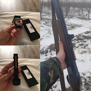 Image 5 - Tactical 1x25/1x27/1x40 Fiber Red/Green Dot Sight Scope Holographic Sight Fit Shotgun Rib Rail Hunting Shooting