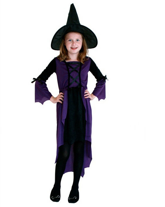 purple naughty little witch stage performances christmas costume party - Naughty Girl Halloween Costumes