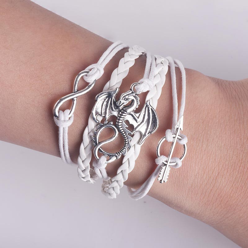 Game of Thrones Braided Leather Bracelet
