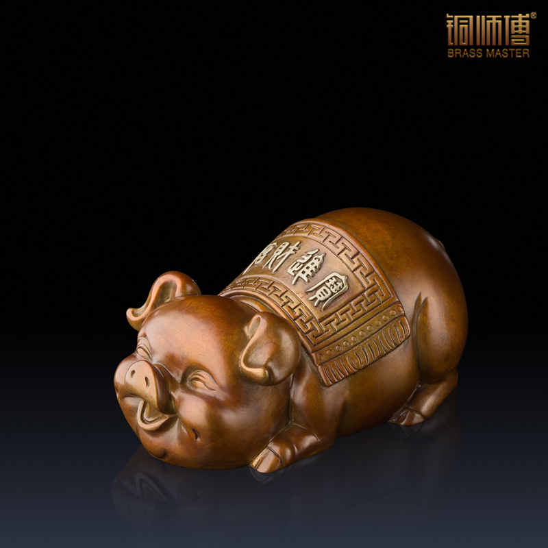 Small animal articles copper lucky pig fat pig pig birthday gifts crafts Fu Feng Shui Study ClubSmall animal articles copper lucky pig fat pig pig birthday gifts crafts Fu Feng Shui Study Club