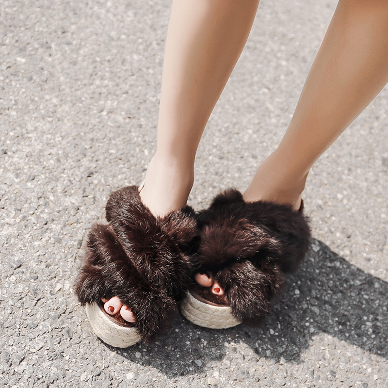 fur slippers women slides slip on shoes wool weaving platform woman outdoor casual shoes slippers wedges high heels pumpsfur slippers women slides slip on shoes wool weaving platform woman outdoor casual shoes slippers wedges high heels pumps