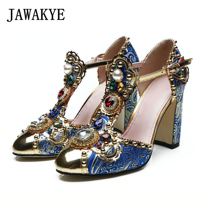 2019 Handmade Diamond Gladiator Sandals Woman Metal Pointed Toe Flower Rhinestone Jewelled Embroidered High Heel Shoes Woman2019 Handmade Diamond Gladiator Sandals Woman Metal Pointed Toe Flower Rhinestone Jewelled Embroidered High Heel Shoes Woman