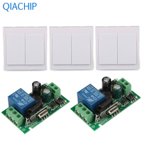 86 Wall Panel Switch CH 433MHz Transmitter 1 CH Relay Receiver 2pcs 433 MHz RF TX