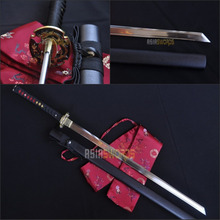 Free Sword Bag Real Handmade T10 1095 High Carbon Steel KIRIHA-ZUKURI Sharpened Japanese Ninjato Samurai Katana Ninja Sword #AGG