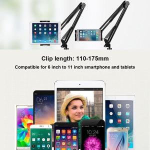 Image 5 - Telefon Tablet tutucu uzun kol masaüstü klip braketi için iPad iPhone Huawei 6 ila 11 inç telefonu Tablet standları desteği